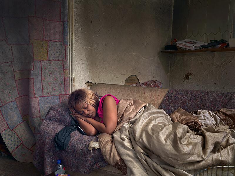 Dave Jordano - Diane sleeping, Detroit 2013