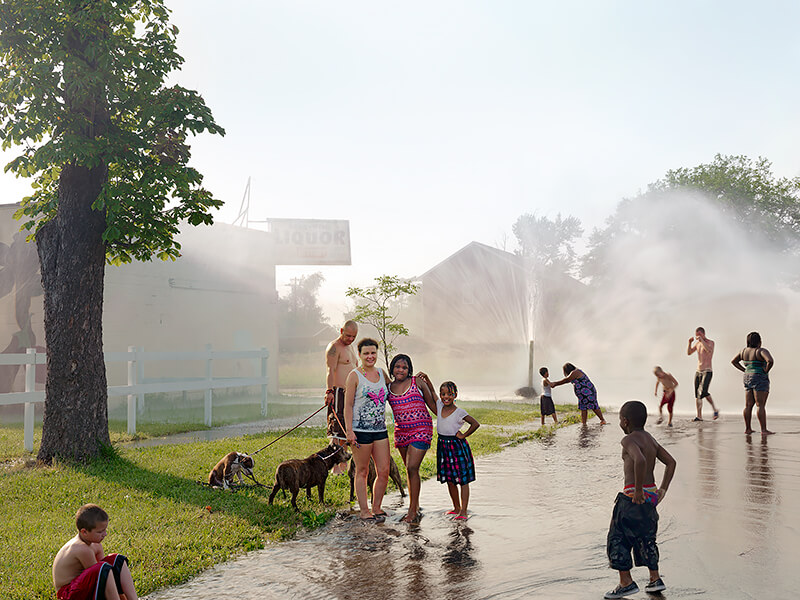 Dave Jordano - Group with Hydrant, Detroit 2012