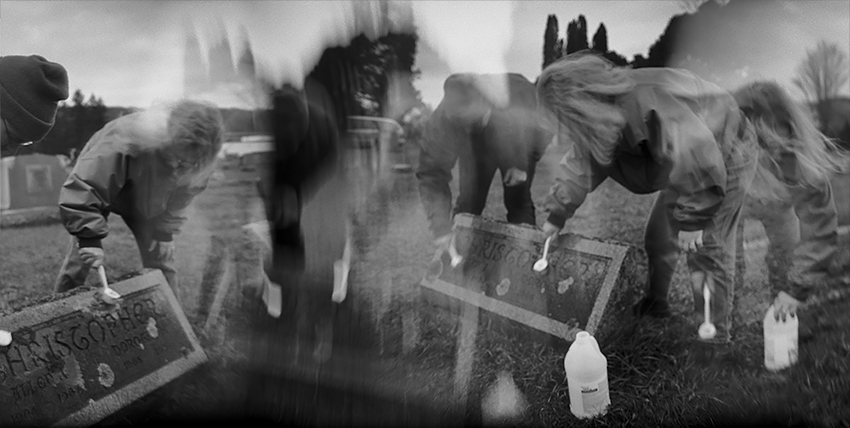 Ben Altman - Cleaning Family Gravestones on Thanksgiving Weekend. Cinncinatus, NY, 2009