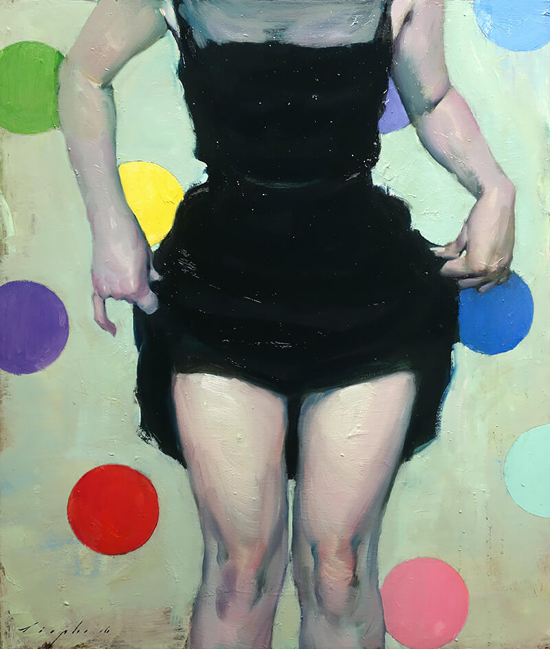 Malcolm Liepke - American Girl, oil on canvas