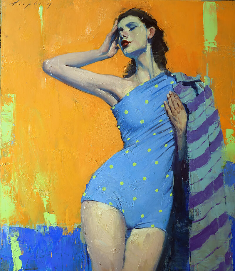 Malcolm Liepke - Polka Dots, oil on canvas