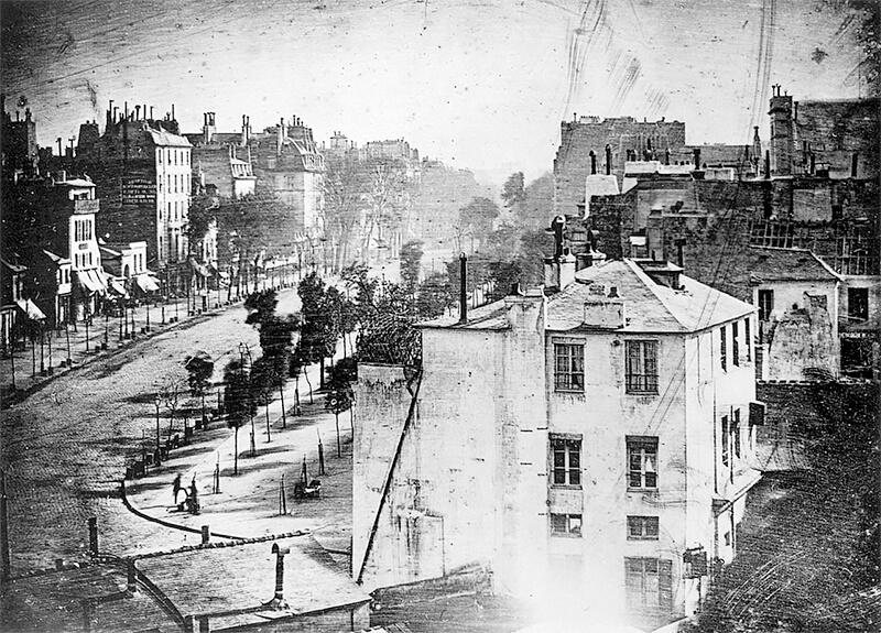 Louis Daguerre - Le Boulevard du Temple, Paris 1833