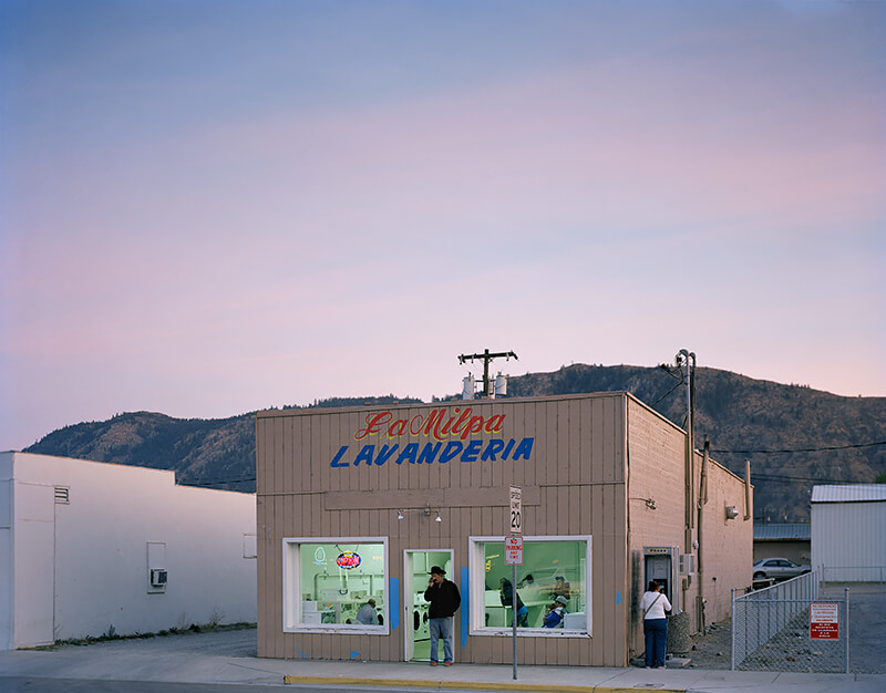 Kathya Landeros - Main street laundromat, Eastern Washington