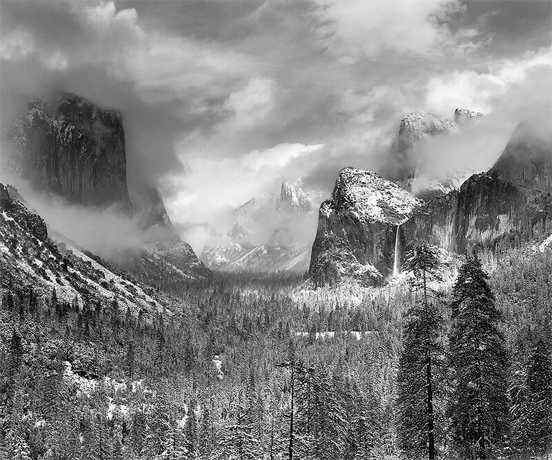 Ansel Adams - Clearing Winter Storm