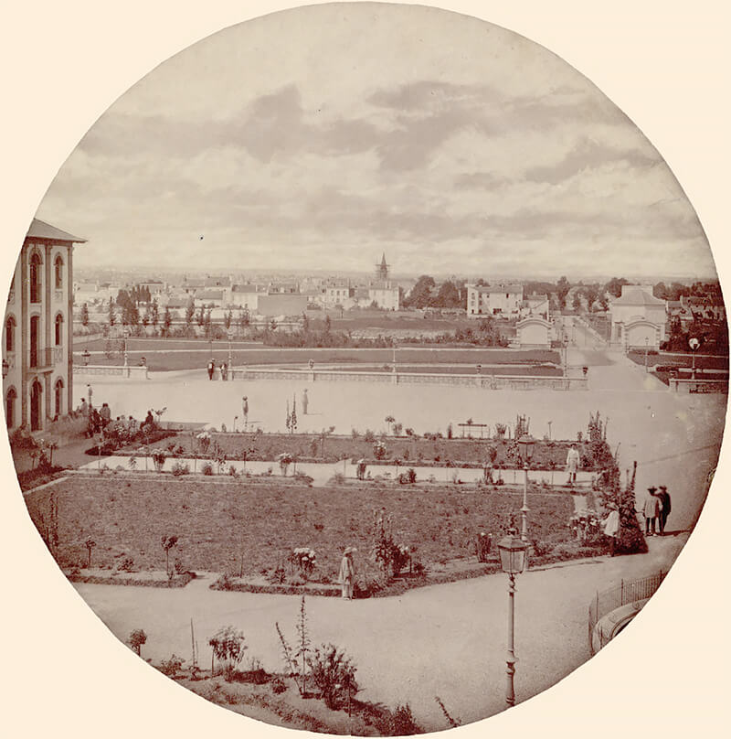 Charles Nègre: General View, Vincennes Imperial Asylum 1859