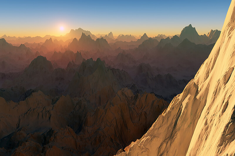 drone photography mountains