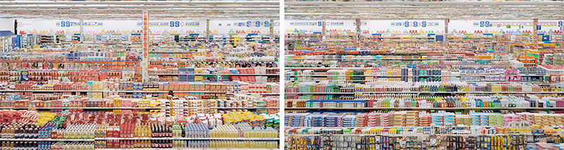 Andreas Gursky: 99 Cent II, Diptych, 2001