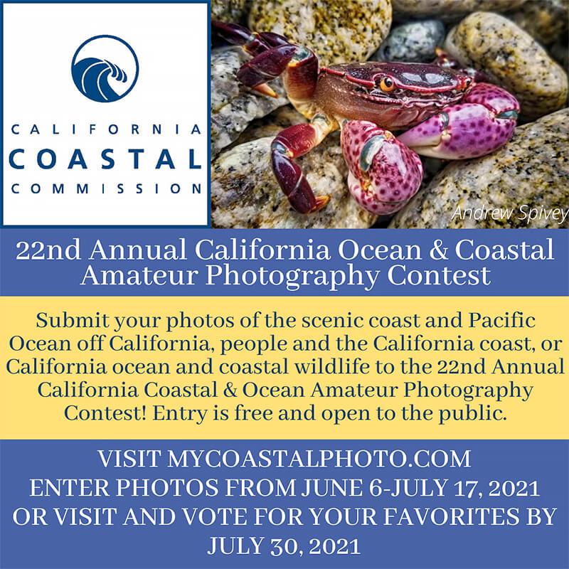 22nd Annual California Coastal & Ocean Amateur Photography Contest