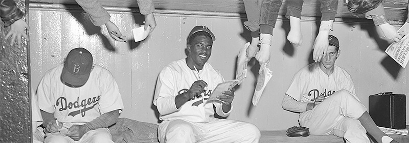 In the Dugout with Jackie Robinson