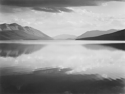 Ansel Adams - McDonald Lake, Glacier National Park (1942)