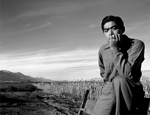 Ansel Adams - Portrait of Tom Kobayashi at Manzanar, 1943