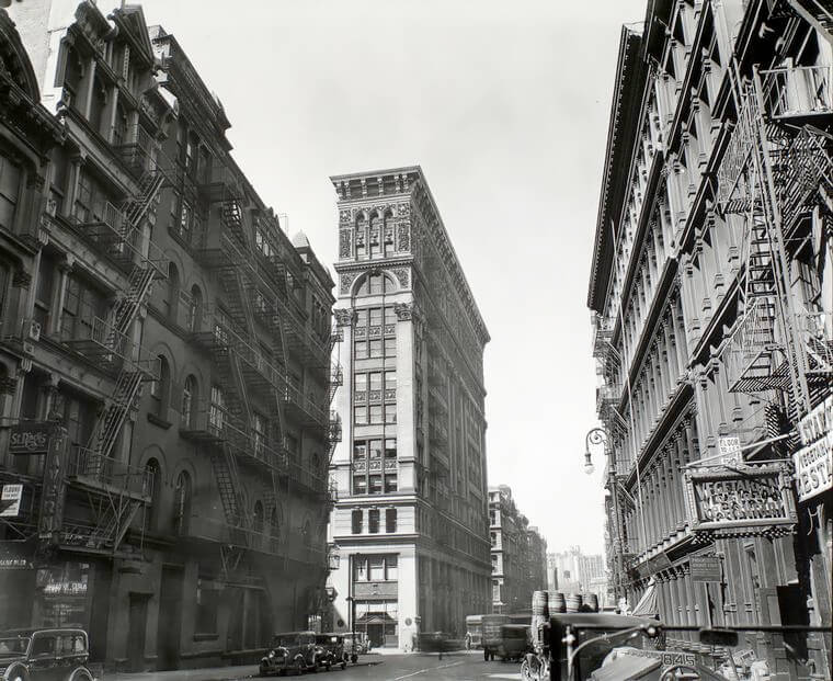 Broadway near Broome Street, Manhattan 1935 ©New York Public Library<p>© Berenice Abbott</p>