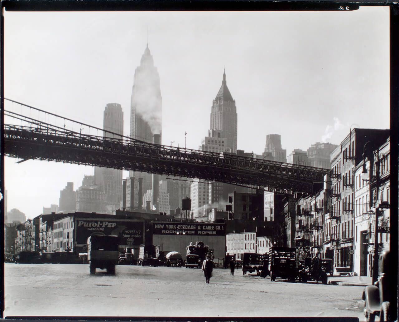 Waterfront, South Street, Manhattan 1935 ©New York Public Library<p>© Berenice Abbott</p>