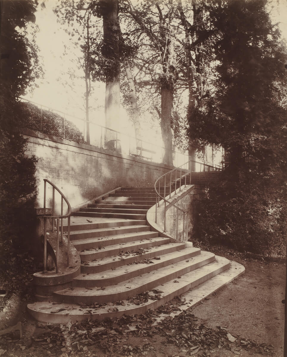 The Steps at Saint-Cloud, 1906<p>© Eugène Atget</p>