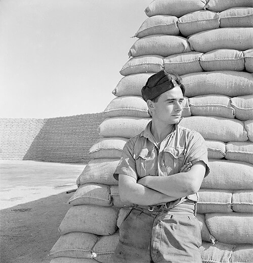 Cecil Beaton - The Western Desert 1942: A Royal Air Force officer © IWM Non Commercial Licence