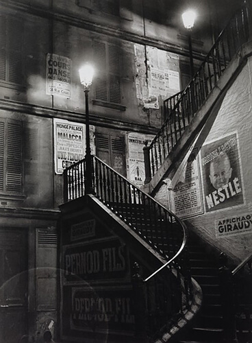 George Brassaï - Staircase in the rue Rollin, 1934