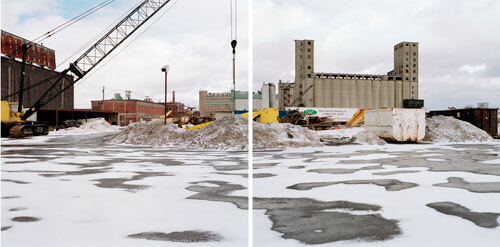 Discarded Landscape 6     Abandoned Agway grain elevator and industrial yard, First Ward neighborhood, Buffalo, New York 2001<p>© Jeff Brouws</p>