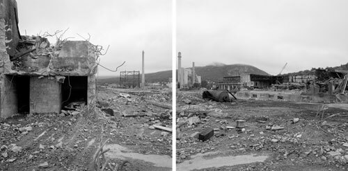 Discarded Landscape 33    Paper mill being demolished, Berlin, New Hampshire 2007<p>© Jeff Brouws</p>
