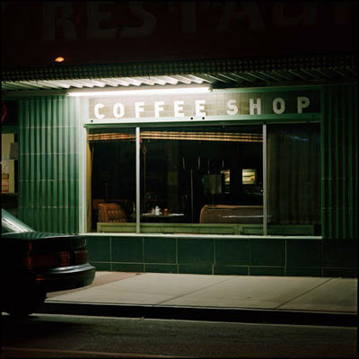 Coffee Shop, Battle Mountain, Nevada 1993<p>© Jeff Brouws</p>