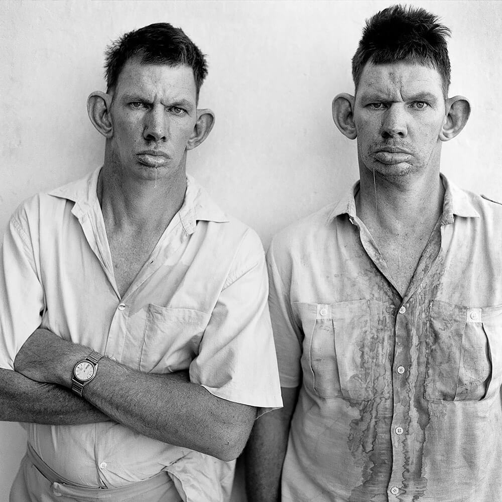 Roger Ballen - Dresie and Casie, Twins 1993