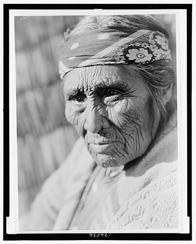 Edward S. Curtis - Old Klamath woman 1923 ©Library of Congress, Prints & Photographs Division, Edward S. Curtis Collection
