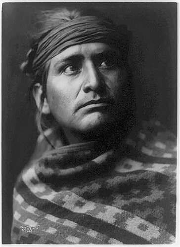 Edward S. Curtis - A chief of the desert-Navaho 1904 ©Library of Congress, Prints & Photographs Division, Edward S. Curtis Collection