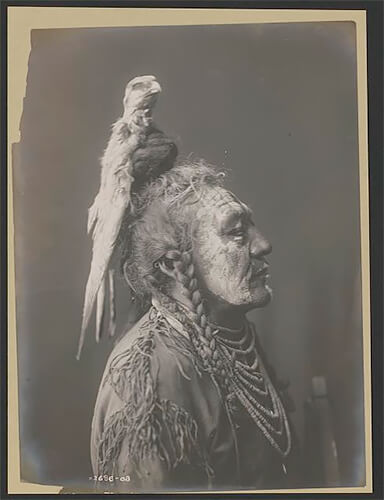 Edward S. Curtis - Two Whistles-Apsaroke 1908 ©Library of Congress, Prints & Photographs Division, Edward S. Curtis Collection