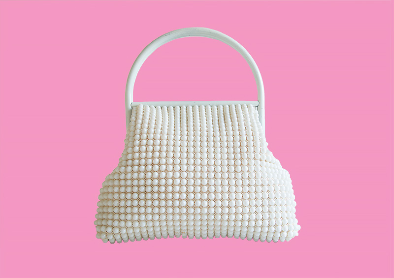 White Beaded, Mimi and her Purses, 2019<p>© Ellen Cantor</p>
