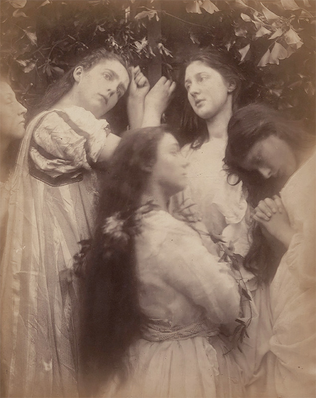 "Julia Margaret Cameron - Mary Hiller and Four Other Women (""Have we not heard the Bridegroom is so sweet!"") 1974"