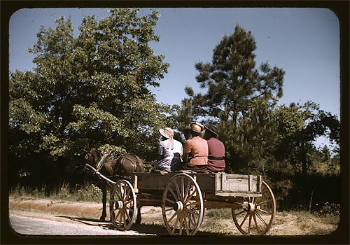 Jack Delano - Going to town on Saturday afternoon, Greene County, Ga. 1941 ©Library of Congress