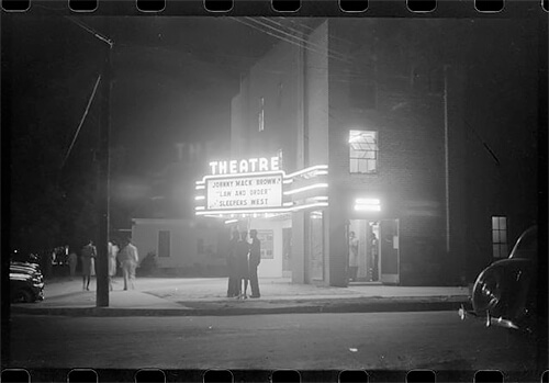 Jack Delano - The movie house in Greensboro 1941 ©Library of Congress