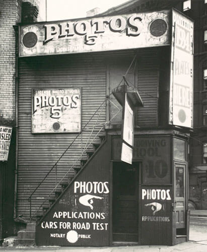 License Photo Studio, New York, 1934<p>© Walker Evans</p>