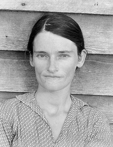 Allie Mae Burroughs, 1935 or 1936<p>© Walker Evans</p>
