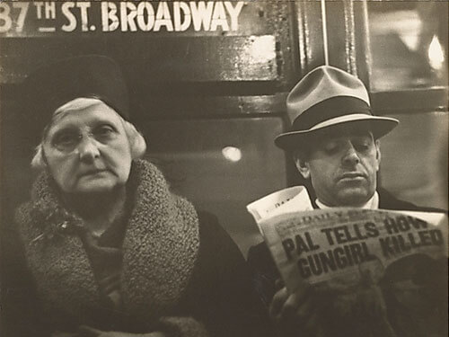 Subway Passengers, New York City, 1938<p>© Walker Evans</p>