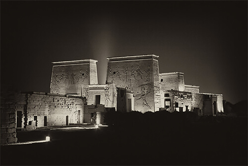 EGYPT: Temple to Hathor at Philae<p>© Chester Higgins Jr.</p>