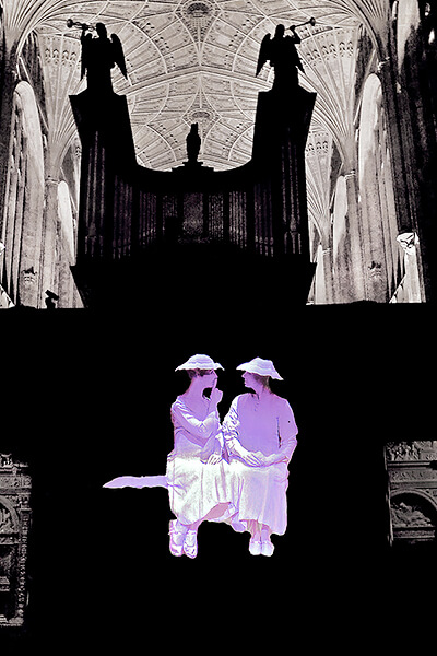 COME & GO by Samuel Beckett, audio visual KINGS COLLEGE CHAPEL Cambridge 2017<p>© John Haynes</p>