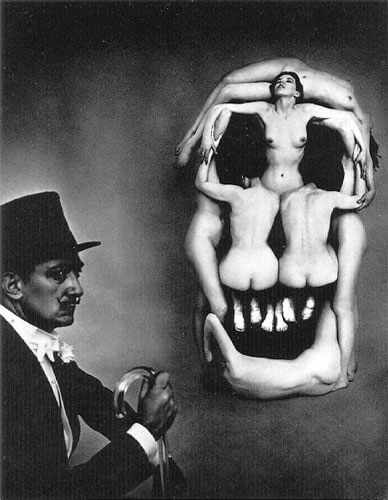 Philippe Halsman - Salvador Dalí portrait, In Voluptas Mors 1951