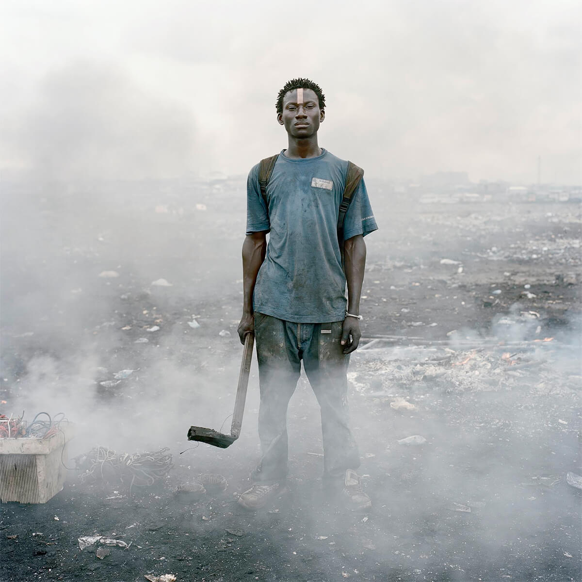 Pieter Hugo - From the series Permanent Error, Aissah Salifu, Agbogbloshie Market, Accra, Ghana, 2010 - Digital C-Print ©Pieter Hugo, Courtesy Yossi Milo Gallery