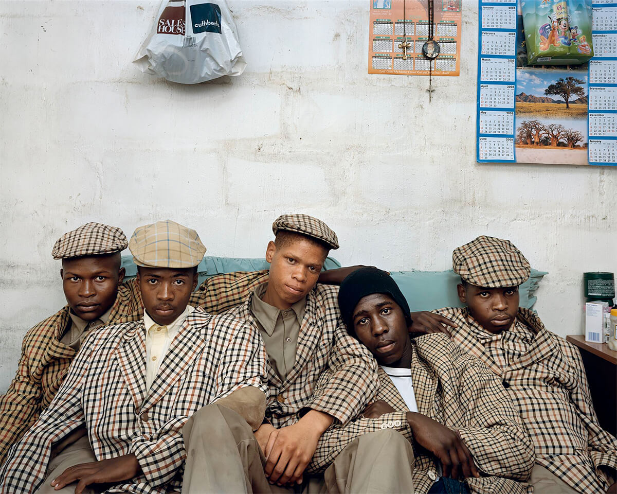Pieter Hugo - From the series Kin, Loyiso Mayga, Wandise Ngcama, Lunga White, Luyanda Mzantsi, Khungsile Mdolo after their initiation ceremony, Mthatha, 2008