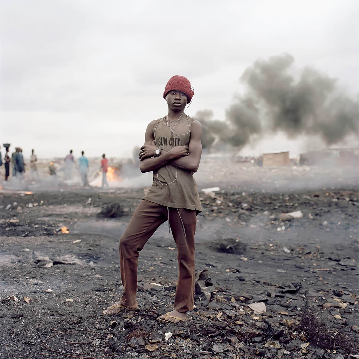 Pieter Hugo - From the series Permanent Error, Yaw Francis, Agbogbloshie Market, Accra, Ghana, 2009 - Digital C-Print ©Pieter Hugo, Courtesy Yossi Milo Gallery