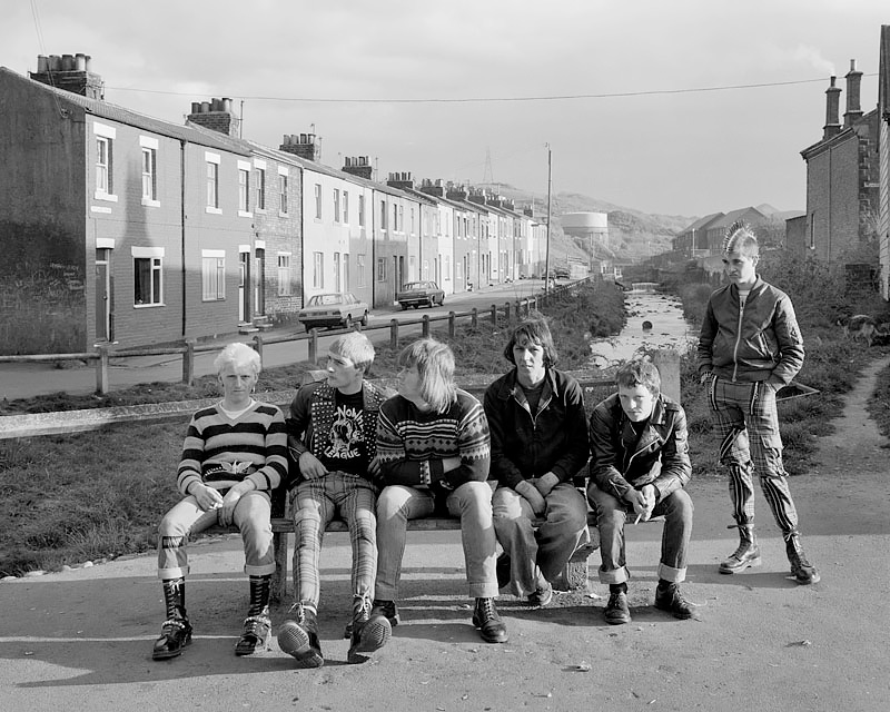 Leso, Blackie, Bever, Richard, Toothie and Whippet, Skinningrove 1982<p>© Chris Killip</p>