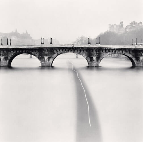 Michael Kenna - Passing Barge, Paris, France (1988)