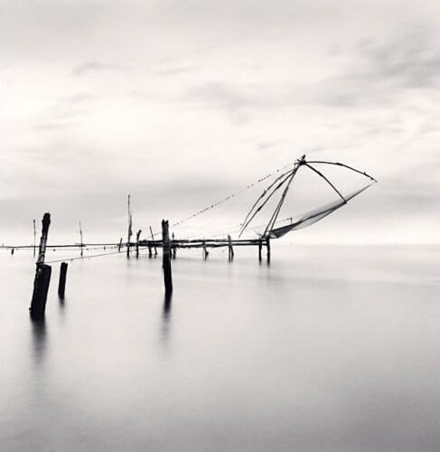 Michael Kenna - Chinese Fishing Nets, Kochi, Kerala, India, 2008