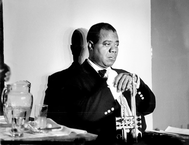 Louis Armstrong, Paris, 1960<p>© Herman Leonard</p>