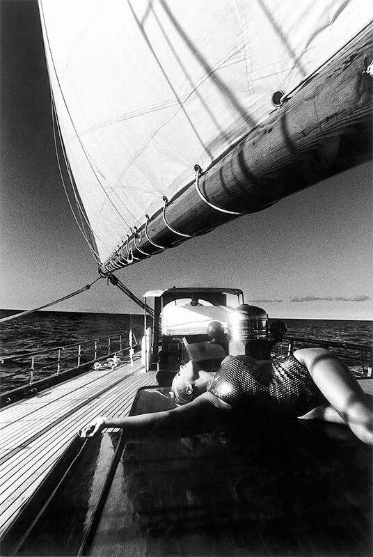 "Jean-Daniel Lorieux - Triffie, on the yatch ""The Shenandoah"" 1988"