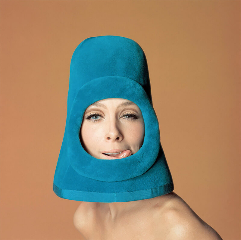 Jean-Daniel Lorieux - Model Olga, Fashion by Pierre Cardin for Ragazza pop cover, Rome 1972