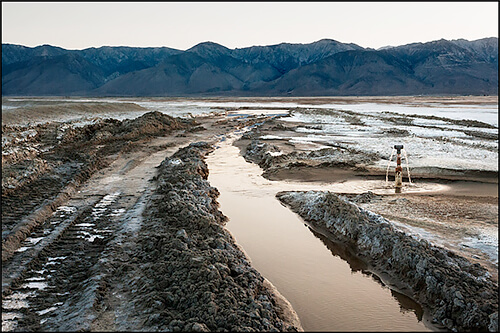 Jennifer Little - LADWP Shallow Flood Irrigation Ditch, Owens Lake, CA, 2012