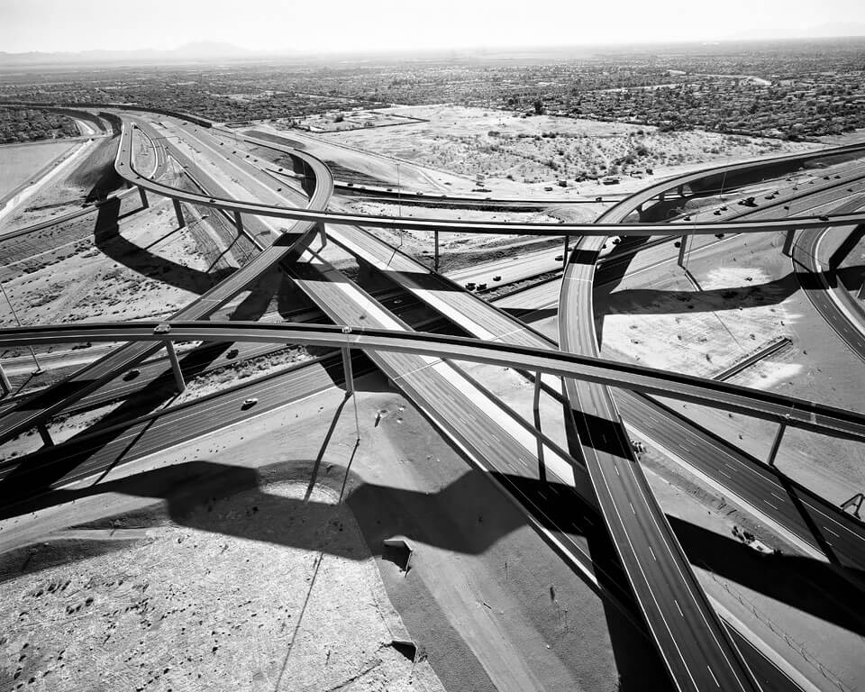 Interchange of Highways 60 and 202 Looking West, Mesa, Arizona, 2007<p>© Michael Light</p>