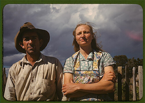 Russell Lee - Faro and Doris Caudill, homesteaders, in Pie Town, New Mexico, in late 1940. ©Library of Congress