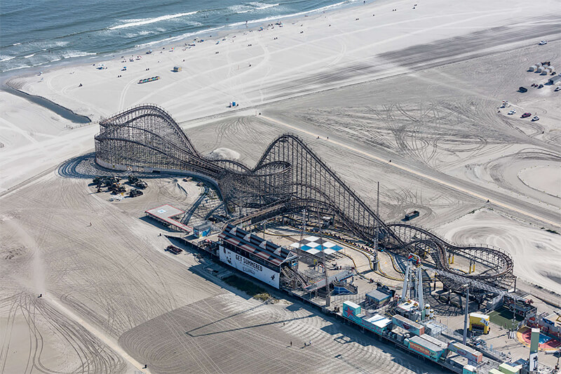 Wildwood Roller Coaster, Wildwood, New Jersey 2018<p>© Alex MacLean</p>